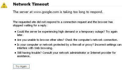 Network  Timeout screen cap
